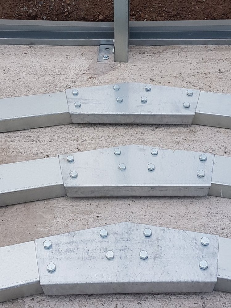 Build the apex brackets for the roof beams